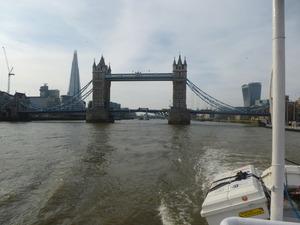 Fahrt auf der Themse Richtung Greenwich